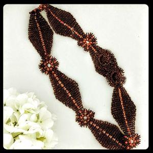 Accessories - VINTAGE Boho Handmade Seed Belt
